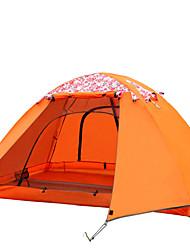 FlyTop® 2 человека Световой тент Тройная Однокомнатная Палатка Стекловолокно Полиуретан Полиэстер ОксфордВлагонепроницаемый