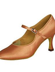 Maßfertigung-Maßgefertigter Absatz-Satin-Lateintanz Jazztanz Modern Swing Schuhe Salsa-Damen