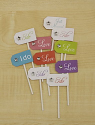 Hard Card Paper Wedding Decorations-1Piece/Set Spring Summer Fall Winter Non-personalized