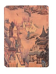 For Apple iPad 2 3 4 Case Cover Dragon Boat Pattern PU Leather Stent Flat Shell