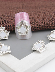 5 Pcs Manicure Tools Crown Nail Art Act The Role Ofing Is Tasted Crystal Nail Decoration