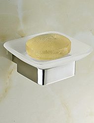 "Soap Dish Stainless Steel Wall Mounted 105 x 120 x 45mm (4.13 x 4.74 x 1.77"") Stainless Steel Contemporary"