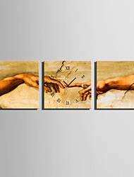 MINI SIZE E-HOME The Hand of Love Clock in Canvas 3pcs