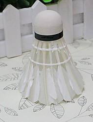 Bola de Badminton( DEPenas de Ganso,Branco) -Força Alta Elasticidade Alta Durabilidade