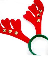 Presentes de Natal Artigos para Celebrar o Natal Decoração Para Festas 4Pcs Natal Tecido Vermelho
