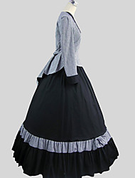Outfits Classic/Traditional Lolita Cosplay Lolita Dress Plaid Long Sleeve Ankle-length Top Skirt For Cotton
