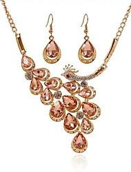 Dámské Sady šperků imitace drahokamu imitace Diamond Módní bižuterie Drahokam Slitina Cross Shape Páv 1 x náhrdelník 1 x pár náušnic Pro