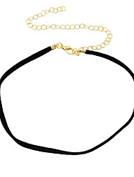 Women's Choker Necklaces Tattoo Choker Alloy Jewelry Basic Tattoo Style Fashion Black Jewelry Daily 1pc