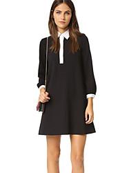 The new 2016 boutique autumn the shirt dress