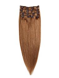 Клип Remy девственницы человеческих волос # 10 14-20inch 70g 22inch 100g