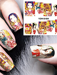 1Pcs Retro Ladies  Nail Stickers Nail Art Design