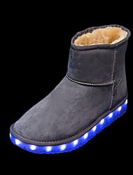 Para Meninas-Botas-Conforto Light Up Shoes-Rasteiro-Preto Rosa Roxo Cinza Camelo-Couro Ecológico-Casual