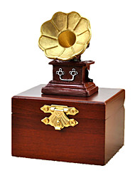 Music Box Phonograph Leisure Hobby Novelty Sound Metal Wood Boys´ Girls´