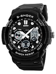 Masculino Relógio Esportivo Relógio Militar Relógio de Pulso Quartzo DigitalLED Calendário Cronógrafo Impermeável Dois Fusos Horários