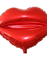 Balloons Holiday Supplies Circular / Heart-Shaped Aluminium Red For Boys / For Girls 5 to 7 Years