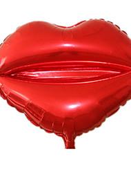 Balões Decoração Para Festas Circular Forma de Coração alumínio Vermelho 5 a 7 Anos