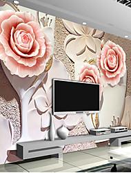 Fleur Fond d'écran pour la maison Luxe Revêtement , Autre Matériel adhésif requis fond d'écran Mural , Couvre Mur Chambre