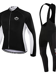 WOLFKEI Winter Thermal fleece Long Sleeve Cycling Jersey Long Bib Tights Ropa Ciclismo Cycling Clothing Suits #WK91