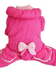 Hund Overall Hundekleidung Lässig/Alltäglich warm halten Polka Dots Rose