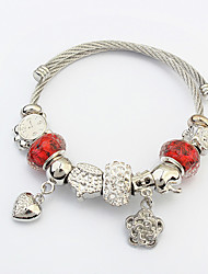 Women Bracelet Charm Bracelet Steel Heart Flower Fashion Christmas Gifts