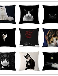 Cute Cat Series Pattern Designed Style Cushion Covers Car Seat Covers For Sofa Home Decor Chair Pillowcase 17.7'X17.7' (45CMx45CM)