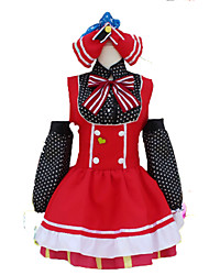 Love Live Maki Nishikino Cosplay Costumes Solid Dress / Sleeves / Headwear
