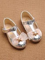 Girl's Flats Comfort PU Casual Pink Silver