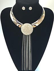 Schmuck 1 Halskette / 1 Paar Ohrringe Hochzeit / Party 1 Set Damen Weiß Hochzeitsgeschenke