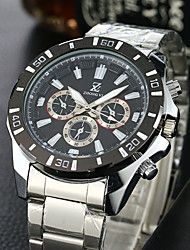 Men's Sport Watch Dress Watch Fashion Watch Wrist watch Quartz Stainless Steel Band Vintage Casual White Brand