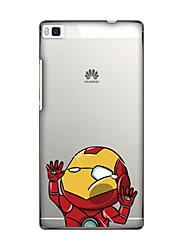 Para Funda Huawei / P8 Diseños Funda Cubierta Trasera Funda Dibujos Suave TPU Huawei Huawei P8 / Huawei P7