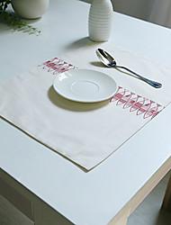 Rectangulaire Impression Sets de table , Coton mélangé Matériel Tableau Dceoration / Hôtel Dining Table