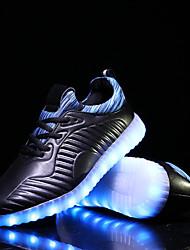 Femme-Extérieure / Décontracté-Noir / RougeConfort-Sneakers-Synthétique