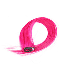 2 Pcs/Set 4 Clips Clip In Hair Extensions Pink 14Inch 18Inch 100% Human Hair For Women