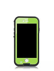 Pour Coque iPhone 6 Coques iPhone 6 Plus Imperméable Antichoc Etanche à la Poussière Coque Coque Intégrale Coque Couleur Pleine Dur