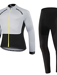 WOLFKEI Winter Thermal fleece Long Sleeve Cycling Jersey Long Tights Ropa Ciclismo Cycling Clothing Suits #WK48