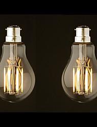 8W B22 LED Glühlampen G60 8 COB 800 lm Warmes Weiß Dimmbar AC 220-240 AC 110-130 V 2 Stück