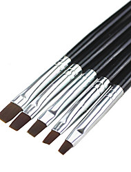 5PCS Nail Art Brushes Kits With Black Handle Nail Tools