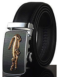 Men's Luxury Crocodile Icon Automatic Buckle Waist Belt Work / Casual Alloy / Leather Black All Seasons New