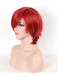 Fashion Red Color Synthetic Cosplay Wigs Short Curly Wigs