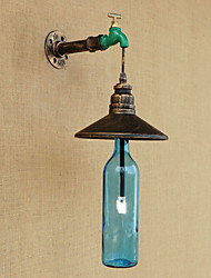 Iron Pipe Retro Bar Hotel Decoration Pipe Bottle Wall Lamp