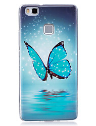For Glow in the Dark IMD  Pattern Case Back Cover Case Blue butterfly Soft TPU for Huawei Huawei P9 Lite   Huawei P8 Lite