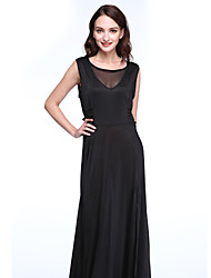 Women's Sexy / Simple Solid Sheath Dress,Round Neck Maxi Polyester