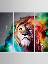 Canvas Set Abstract Animal Modern Classic,Three Panels Canvas Vertical Print Wall Decor For Home Decoration
