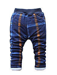 Boy's Cotton Fashion Plaid Spring/Fall/Winter Going out/Casual/Daily Warm Children Heavy Padded Pants