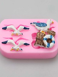Seagull Animal And Sailing Fondant Cake Molds Chocolate Mould For The Kitchen Baking Silicone Sugar Decoration