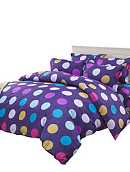 Mingjie Purple Round Bedding Sets 4PCS for Twin Full QueenSize from China Contian 1 Duvet Cover 1 Flatsheet 2 Pillowcases