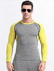 Running Tops Men's Long Sleeve Breathable / Quick Dry / Wearable / Comfortable PolyesterExercise & Fitness / Racing / Basketball /