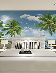 JAMMORY Wallpaper For Home Wall Covering Canvas Adhesive required Mural Belvedere Beach XL XXL XXXL