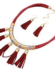 Schmuck 1 Halskette / 1 Paar Ohrringe Hochzeit / Party 1 Set Damen Schwarz / Rot / Blau / Khaki Hochzeitsgeschenke