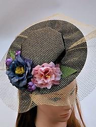 Women's Fabric Net Headpiece-Wedding Special Occasion Fascinators Hats Birdcage Veils 1 Piece